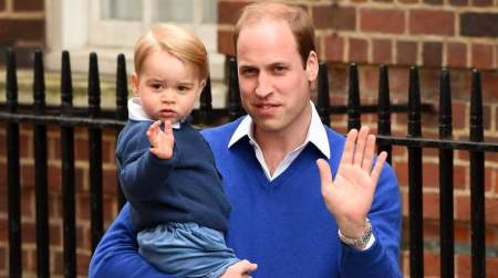 from the Lindo Wing of St Mary's Hospital on May 2, 2015 in London, England.