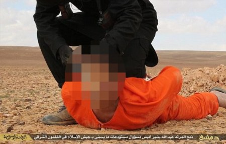 •   Terrormonitor.org ?@Terror_Monitor  2h2 hours ago GRAPH PIC. #SYRIA - #ISIS Release The Photos Of Beheading The Rival Jaish al-Islam Militant Member In #Qalamoun  ISIS beheading
