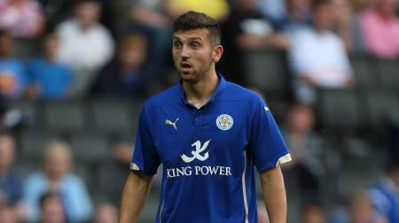 MILTON KEYNES, ENGLAND - AUGUST 04:  James Pearson of Leicester City in action during the Pre-Season Friendly match between MK Dons and Leicester City at Stadium mk on August 4, 2014 in Milton Keynes, England.  (Photo by Pete Norton/Getty Images)