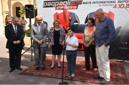 The President launches 'Paqpaqli għall-Istrina 2015', in aid of the Malta Community Chest Fund  San Anton Palace